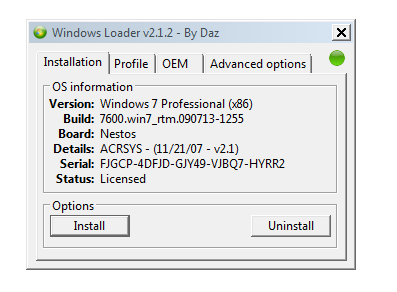 Windows(Activator Patch) Loader v2 1 2 [32bit & 64bit] |